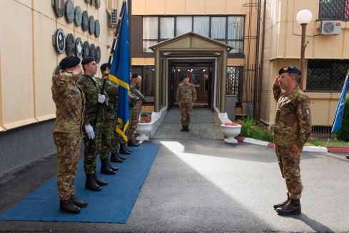 La visita al Comando di Kfor