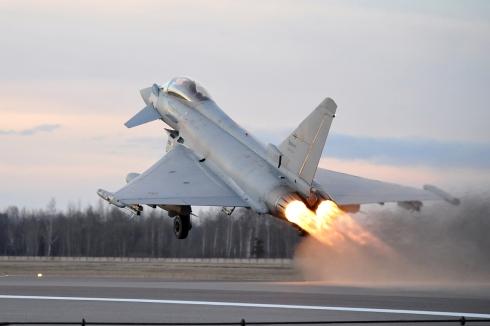decollo su allarme eurofighter_
