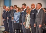 3. L'Ambasciatore Cornelius Zimmerman (Seniore Civilian Representative della NATO), l'Ambasciatore d'Italia in Afghanistan Roberto Cantone e altre autoritàcivili