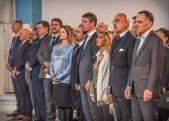 3. L'Ambasciatore Cornelius Zimmerman (Seniore Civilian Representative della NATO), l'Ambasciatore d'Italia in Afghanistan Roberto Cantone e altre autorità civili