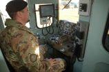 Militare del Genio Ferrovieri durante la condotta di un convoglio nell'EX SMART SAPPER