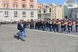 Il Comandante della Scuola Militare Nunziatella Colonnello Cristofaro prende posto nello schieramento
