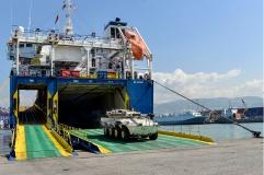 UNIFIL_Afflusso e deflusso mezzi blindati da e per la madrepatria(1)