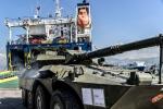 UNIFIL_Afflusso e deflusso mezzi blindati da e per lamadrepatria(2)