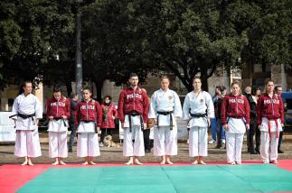 Schieramento atleti karate