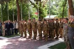 Militari del contingente italiano a Kabul durante la cerimonia