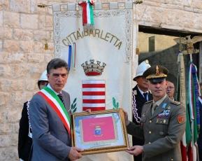 3.Dono dell'82° Reggimento Fanteria Torino al Sindaco di Barletta