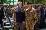 7. Il Generale Salvatore Camporeale e l'Ambasciatore d'Italia in Afghanistan, S.E. Roberto Cantone, durante la cerimoniamilitare