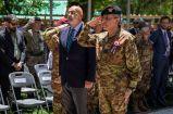 7. Il Generale Salvatore Camporeale e l'Ambasciatore d'Italia in Afghanistan, S.E. Roberto Cantone, durante la cerimonia militare