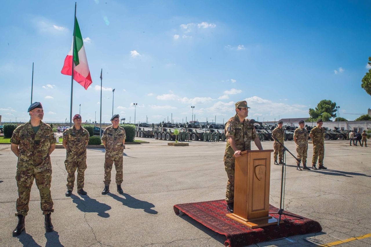 Saluto del Cte Loistico al personale della Brigata Pinerolo
