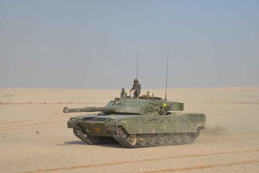 Carro Ariete in esercitazione NASR - QATAR