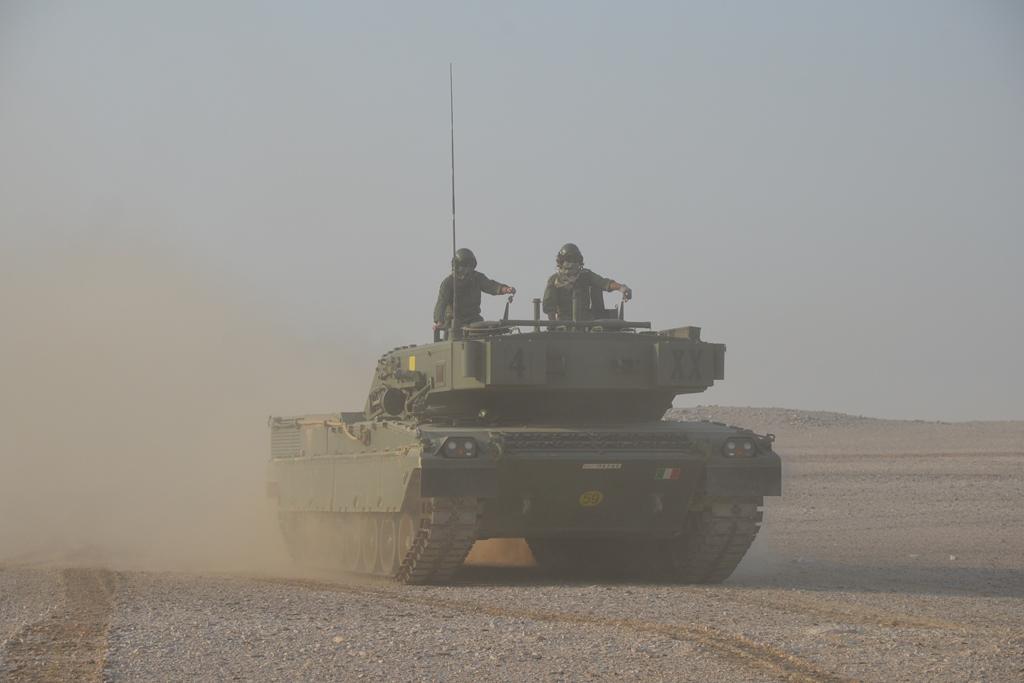 esercitazione in poligono carri Ariete