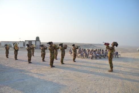 La fanfara del 1° reggimento Bersaglieri