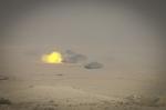 Un momento dell'esercitazione a fuoco con carriAriete