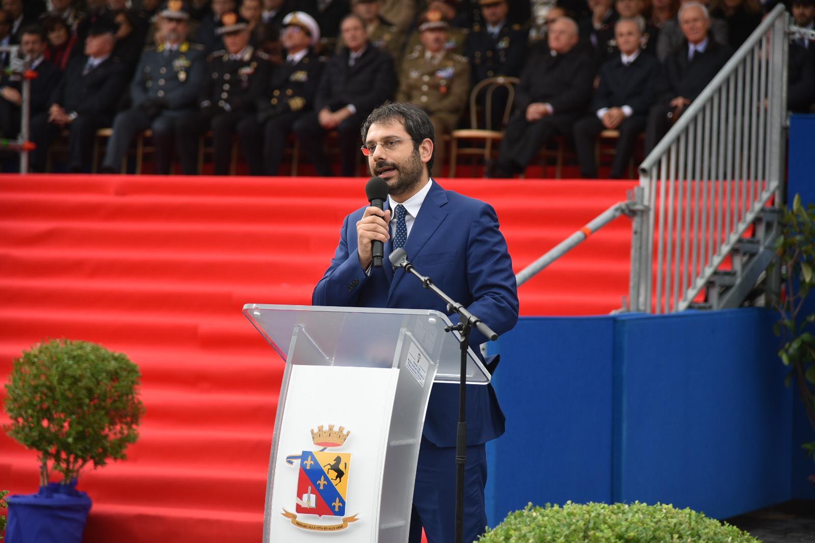Il Sottosegretario Tofalo durante il suo intervento