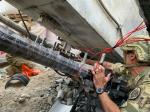 7 Incursori dell'Esercito durante le fasi preparatorie per la demolizione del ponte Morandi aGenova
