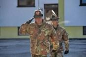 Il generale Gamba e il comandante del 6° reggimento Alpini