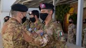 1. Un momento della Medal Parade al TAAC-W