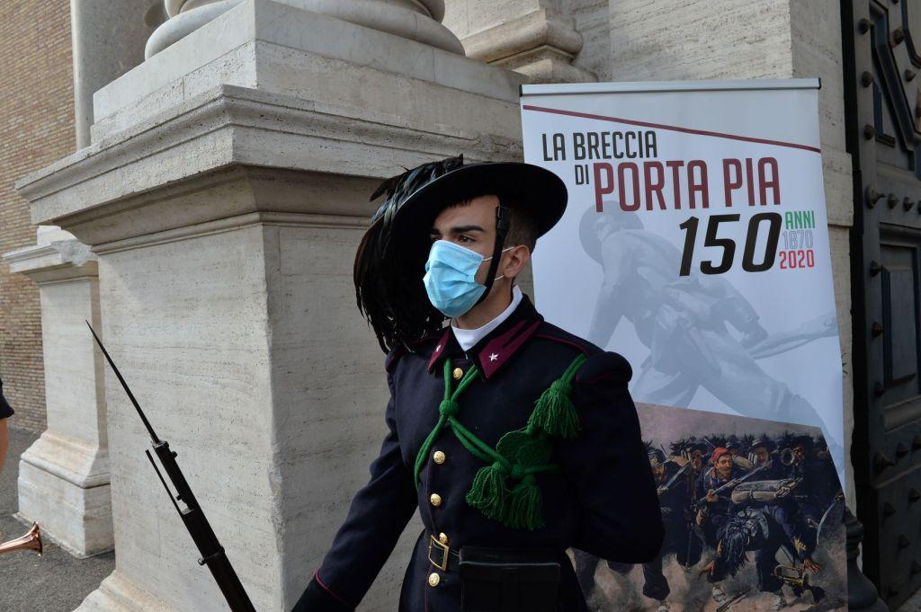 Esercito italiano celebra il 150° anniversario della Breccia di Porta Pia alla presenza dei vertici della Difesa