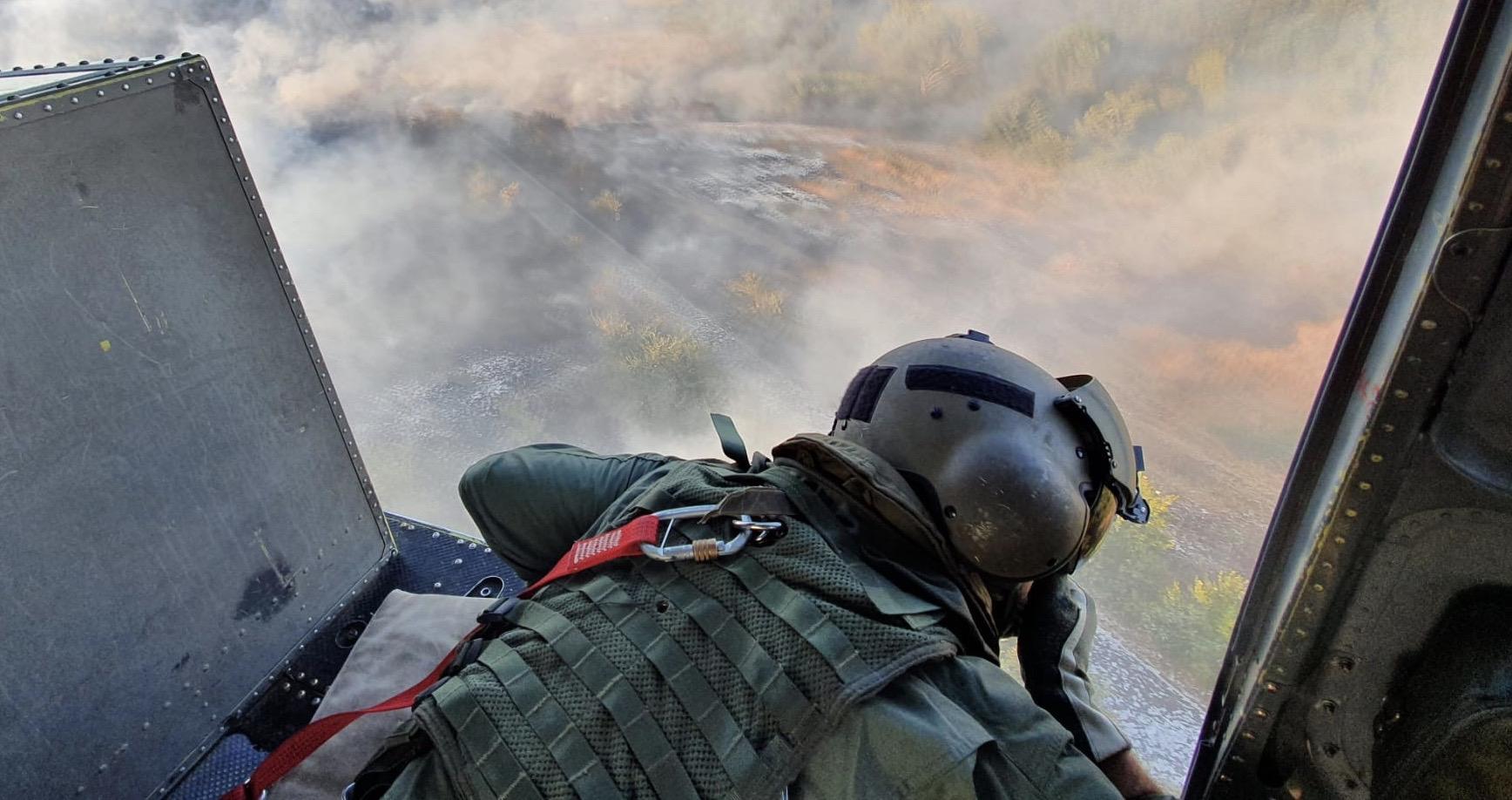 Aviazione dell'Esercito nella campagna antincendi boschivi 2020