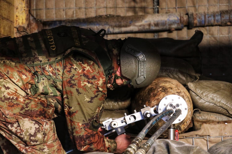 Artificieri dell'Esercito in azione
