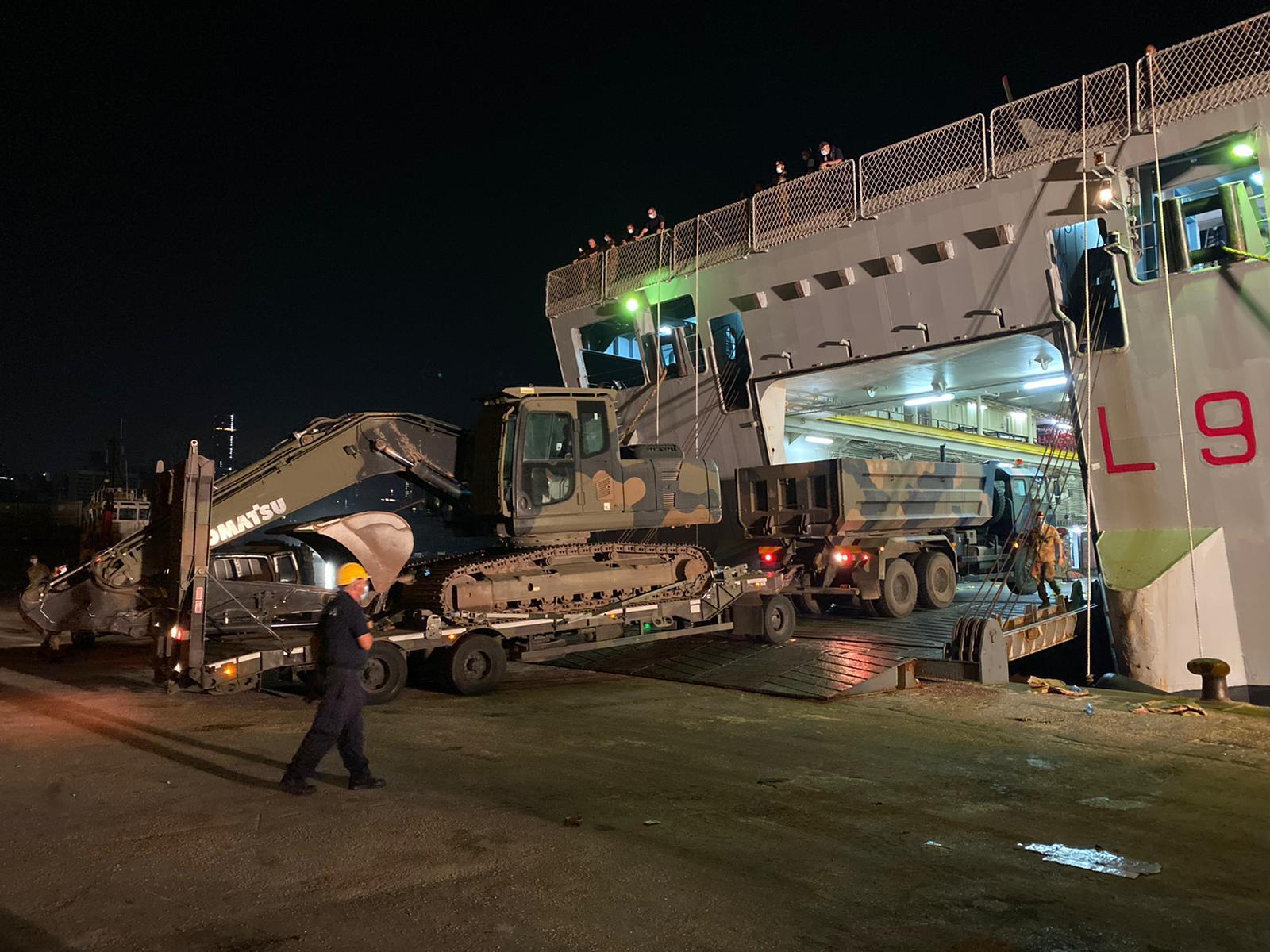 Mezzi del Genio dell'Esercito in partenza per il Libano, operazione CEDRI